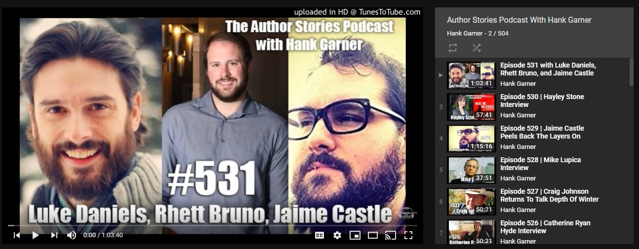 the author stories podcast with hank garner author interviews